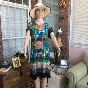 Rafaella Tropical Leaf Dress